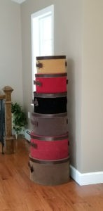 Stacked hatboxes for organized
