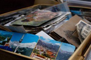 box of pictures memorabilia