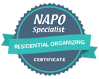 NAPO specialist certificate residential organizing