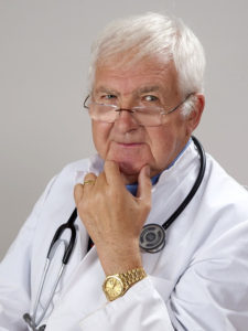 doctor in white coat