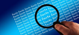magnifying-glass blue background facts