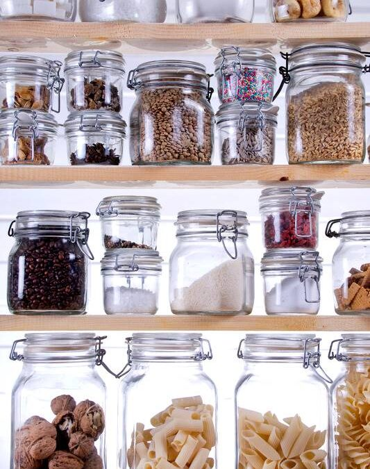 glass storage container pantry