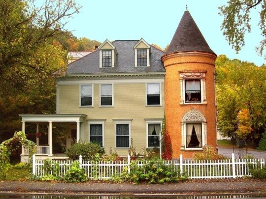 Victorian house new england