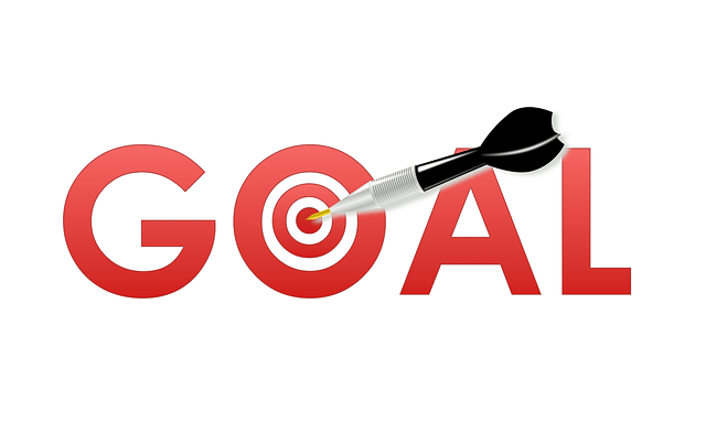 goal with target and dart