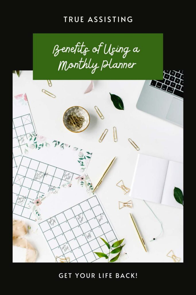 monthly planners laptop gold paperclips